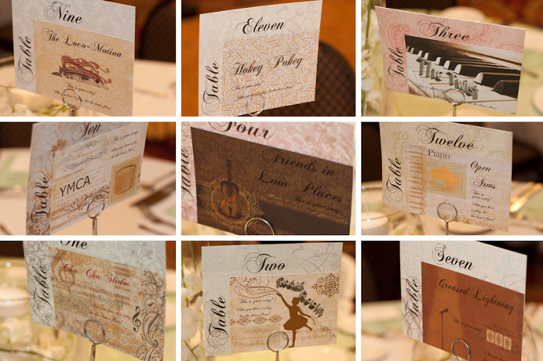 Wedding Line Dance Place Cards