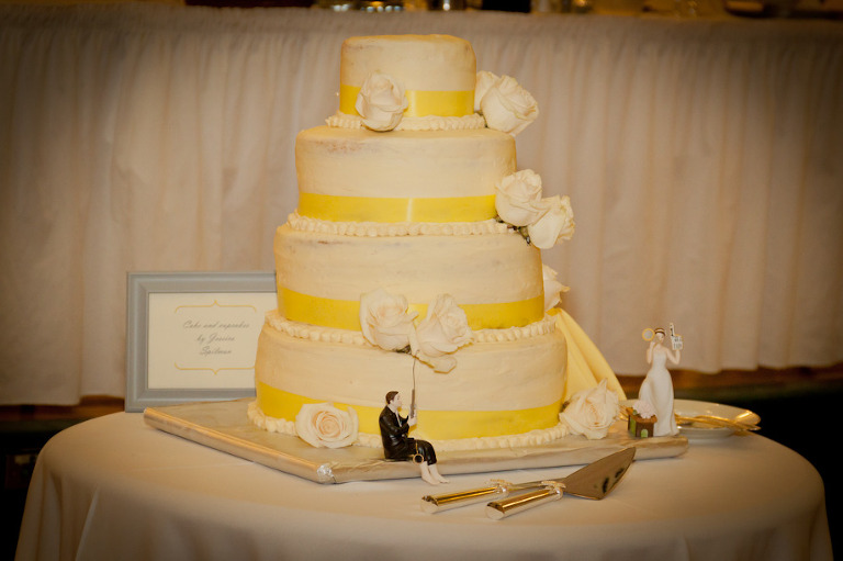 fishing sport wedding cake