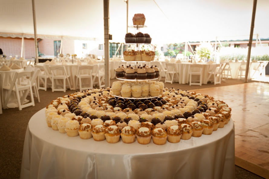 Wedding Cupcake Table Decorations Photograph