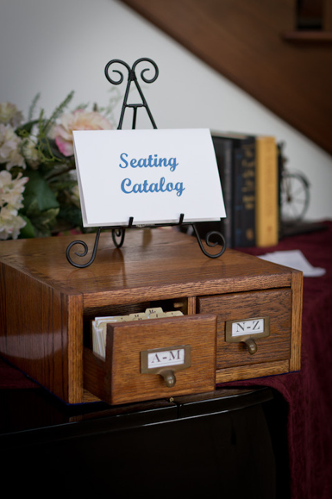 Card Catalog Seating Assignments