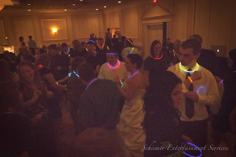 Glow sticks wedding reception