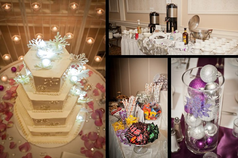 Winter Wedding Reception Details