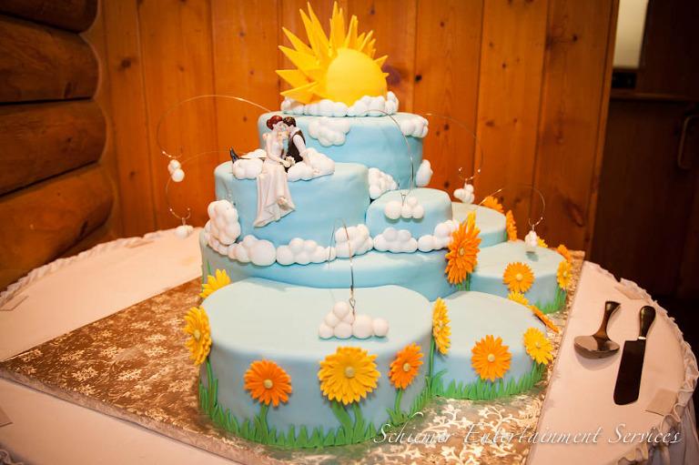 Sunshine Cloud Wedding Cake