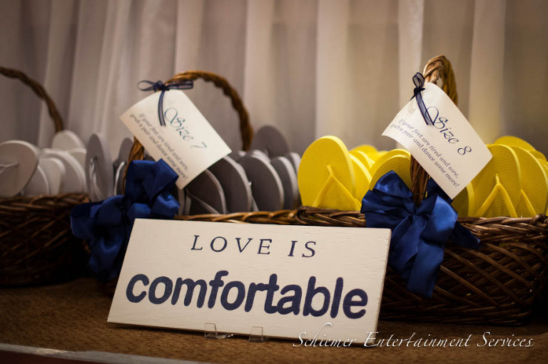 Cute Wedding Reception Signs Shoes