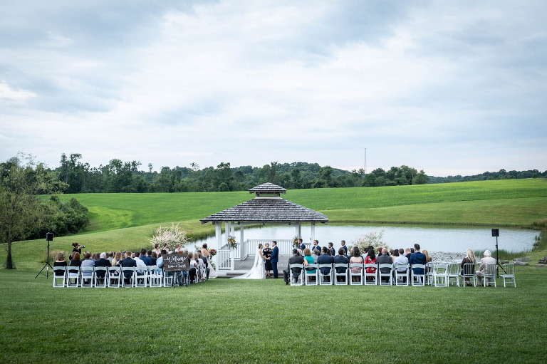 White Barn Prospect PA Wedding Ceremony